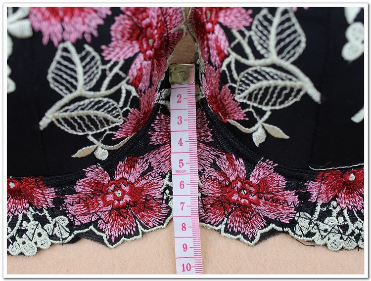 16 Hot Selling Deep V Embroidery Lace Bras Plump Thin Push Up Bra Embroidery Push Up Bras For Women Underwear 34B to 38D 10