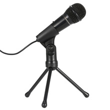 Mini Professional 3.5MM Condenser Microphone Mic Sound Studio With Stand For Conference Skype Desktop PC Notebook