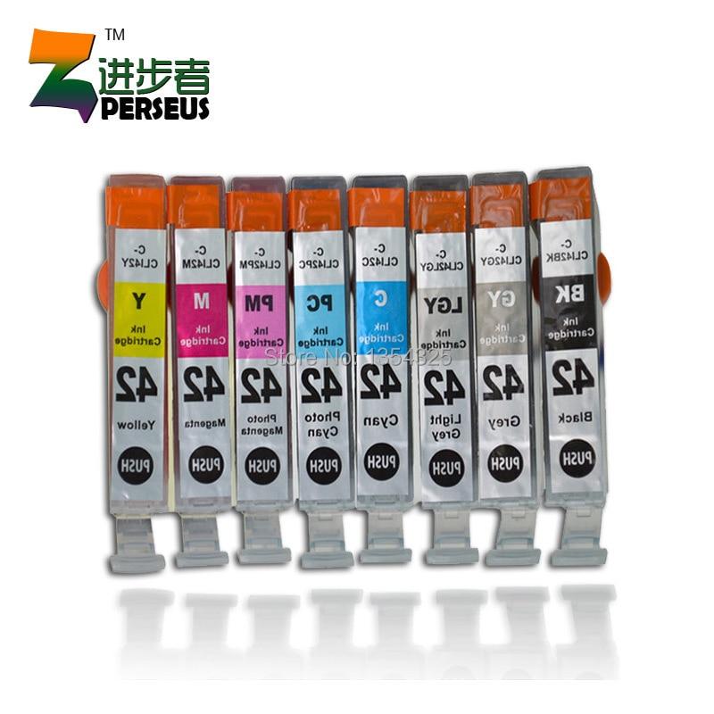 16 PK HIGH QUALITY INK CARTRIDGE FOR CANON CLI42 CLI-42 FULL 8 COLOR COMPATIBLE CANON PIXMA Pro-100 PRINTER<br>