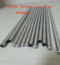 Customized 8*300mm One End Round Head Grade A Quality SS304 Thermocouple Protection Tube  22 pcs / lot