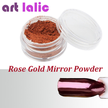2g/Box New Shinning Rose Gold Nail Mirror Powder Nails Glitter Chrome Powder Nail Art Manicure Decoration Beauty Tools Hot(China)