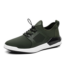 stretch fabric mens casual shoes black army green color patchwork leisure canvas shoes for mans walk shoes new designer sole