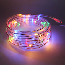 Christmas Lights Outdoor Home Decoration 7M 50Leds Rop Solar Powered Tube LED fairy String Lights for Garland Luces LED Deco