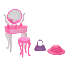 1 Set Dolls Accessories Kids Toys Blister toy for Barbie Plastic Dressing Table Bag Cap for Barbie Doll(China)