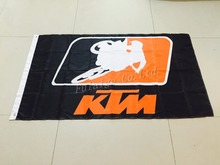 KTM racing flag,90*150CM polyester KTM banner with metal hole 3x5 ft