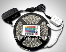 RGB/W/B/Y/R/G 3528SMD 300LEDs Non-Waterproof LED Strip Light 5m/roll+Power Adapter,only RGB / Changeable with 24 Keys IR Remote