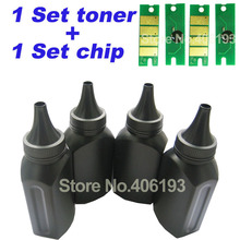 4 Toner + 4 Chips for Ricoh Aficio SP100su SP100sf SP100 SP110q SP110suq SP111sf SP112sf SP100 SP 110 SP 111 SP 112 toner powder(China)