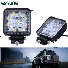 Best 10PCS/Lot 27W car led light led lamp car off road led light Flood&Spot Driving Lamp Sportlight for 12v 24v Vehicle SUV ATV