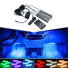 For Honda civic accord fit crv hrv cr-v jazz accessories Interior light Car Styling decorative LED Ambient Light music control