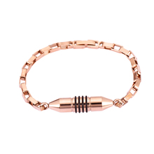 Top Quality 316L Stainless Steel Rose Gold Black Pet Urn Dog Urn Cat Urn Cremation Bracelet/Bangles Women Man(China)
