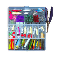 Fishing Lures Bait Kit Artificial 73pcs/101pcs/132pcs Mixed Minnow/Popper Spinner Spoon Lure With Hook Isca Fish Lure Set Pesca