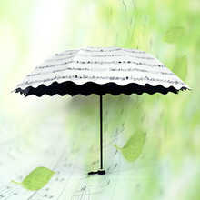 Creative Note Umbrella Children Adults Sunshade Rain Black Coating Umbrella Parasol