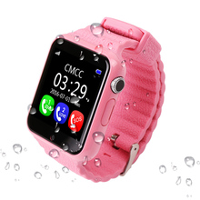 Children GPS Tracker Smart Watch V7K 1.54'' With Camera Facebook Kids SOS Emergency Security Anti Lost For Android Watch PK Q90(China)