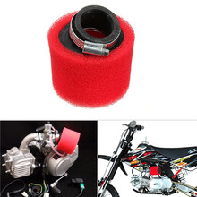 38mm ATV PIT DIRT BIKE 45 Degree ANGLED FOAM Air Filter Pod Cleaner 110cc 125cc RED CRF50 XR50 CRF
