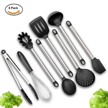 New Arrive Kitchen Cooking Utensils Set of 8 Pieces Premium Heat Resistant Baking Tools(China)