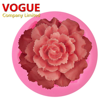 3D Flower Carnations Soap Mold Cake Decoration Candle Clay Fimo Silicone Moulds(China)