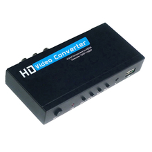 VGA / Component YPbPr to HDMI Upscaler HD video Converter Adapter 720p/1080p VGA to HDM Adapter