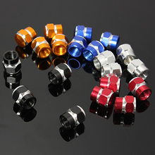 4x Aluminum Tire Tyre Wheel Pressure Valve Stem Caps Tire Screw Dust Cover Car Truck Motocycle Bicycle High Quality