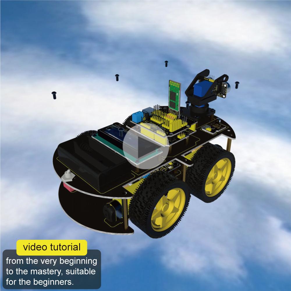 Intelligentne robotauto bluetoothiga