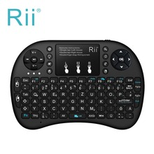 German Keyboard Rii mini i8+ Wireless Keyboard Touchpad mouse Backlit Combo PC Teclado for Tablet HTPC Andorid/Smart TV Box(China)