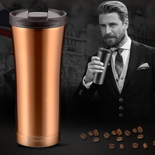 500ml Thermocup starbucks wind  Double Upscal Wall Stainless Steel Coffee Thermos Cup Mugs Thermal Bottle Tumbler Vacuum Flask