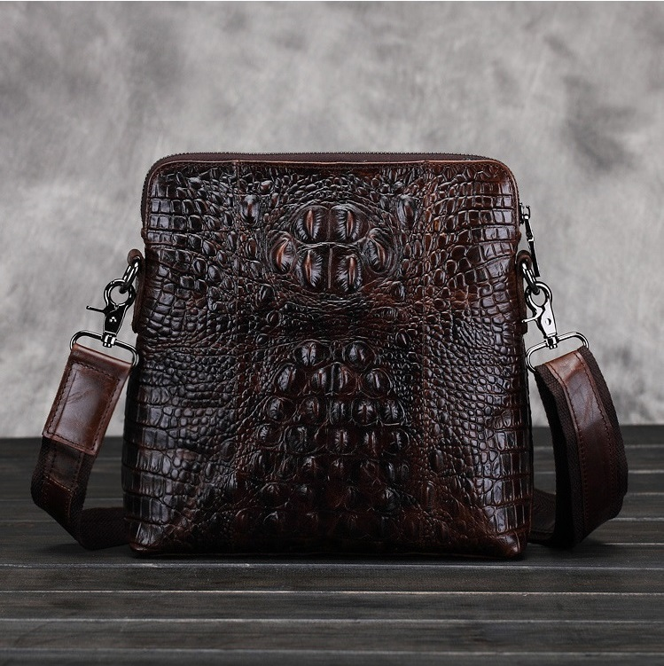 Alligator Men messenger bags cow genuine leather 2017 luxury most popular for male business travel man office Ipad bag #MD-L078<br>