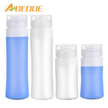 ABEDOE 38ml/80ml Travel Bottle Container For Acetone Polish Remover Alcohol Liquid Shampoo Empty Clear Pump Dispenser Perfume(China)