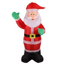 Christmas Decor 1.8m/5.9ft Waving Hand Father Christmas Inflatable Santa Claus  Xmas Outdoor Christmas Decoration for Home