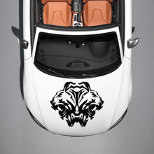 ANIMALS TWO LIONS PREDATOR WILDCAT DESIGN HOOD CAR VINYL STICKER DECALS SV1238