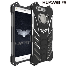 P9/P9 Plus R-Just Batman Mobile Phone case Aluminum Metal Armor cover for Huawei P9 P9 Plus  with R Just Medal Holder bracket