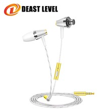 Deast level Earphones Sport fone de ouvido phone Microphone Earphone music auriculares fashion MP3 Computer Earphones Dj Gold(China)