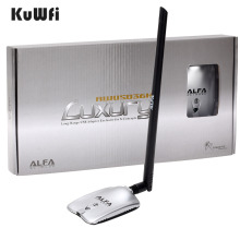 AWUS036H LUXURY ALFA Network Ralink3070L 2.4Ghz High Power Wireless USB Wifi Adapter 2*8dBi Antenna with long range