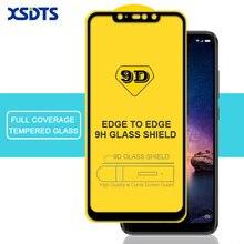 XSDTS 9D Tempered Glass Xiaomi Redmi Note 6 5 Pro 4 4X 6A 5A S2 A2 Lite Full Cover Full Glue Screen Protector Glass
