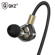 Original QKZ KD6 In Ear Earphone 6 Dynamic Driver Unit Headsets Stereo Sports With Microphone HIFI Subwoofer Earphones Earbuds(China)