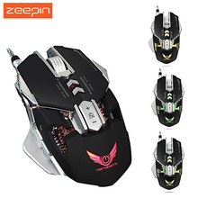 Professional ZERODATE X300 3200DPI Optical Programmable Wired Gaming Mouse with LED Backlight for Laptop Computer PC