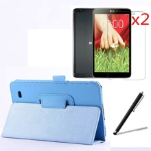 "4in1 Luxury Magnetic Folio Stand Leather Case Cover +2x Screen Protector + Stylus For LG G Pad 7.0 V400 GPad 7 V410 7"" Tablet(China)"