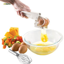 1PC EZ Cracker Delicate Kitchen Gadgets Tools Plastic Egg Crackers Egg Beaters York & White Separator Crack Handheld OK 0474(China)