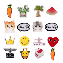 Japan Harajuku Cute Cat Cactus Crown Acrylic Brooch Pin Animal Boy Unisex Backpack Accessory Carrot Fashion Jewelry