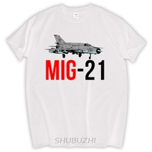 man fashion summer present MIG 21 Jet Air Plane T Shirt MIG 21 Jet Air Plane Tee Shirts Short Sleeve Father's Day Custom(China)