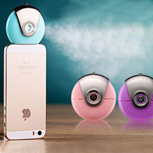 Portable Mini iphone & Android Smartphone Beauty Mist Spray Diffuser Mobile Moisture Supplier Filling Water Meter Whitening Skin