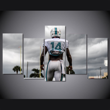 Cool Poster Miami Dolphins Oil Painting On Canvas Wall Art Photo Room Decor 5 Pcs/Set High Quality Picture Waterproof