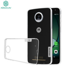 case for moto z play droid Nillkin Clear Nature silicon soft phone cover For moto z play cover (5.5 inch) free shipping(China)