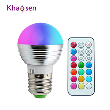 E14 E27 Led Dimmable RGBW Led Bulbs 5W 85-265V 110V 220V Colorful RGB Led Lamp Chandeliers Led Light + 21 Key Remote Controller(China)