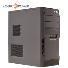 LOGIC POWER desktop computer  case New Arrivals Fast heat dissipation 80mm FAN,CD-ROMx2, HDDx1,PCIx7,USBx2, AUDIO In/Out #3927