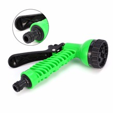 Green Plastic Copper Pressure Multi Function Water Gun Garden Watering Hose Water Nozzle Household Garden Car Wash(China)