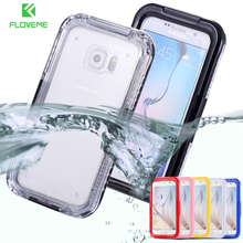 FLOVEME For iPhone 6 6S 7 Plus Swimming Diving Waterproof Case For iPhone 7 6S Clear Protector Cases For iPhone 6S Plus 7 Plus(China)