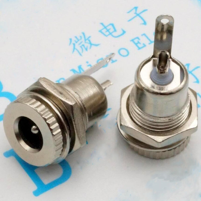 099 DC power supply, DC plug 5.5 * 2.1 high current full metal filling with screws Electrical socket mother city<br><br>Aliexpress