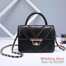 Perfect# 2016 new bags of clear and lovely small leather sheepskin shoulder fashion lady bag shaped cross FREE SHIPPING