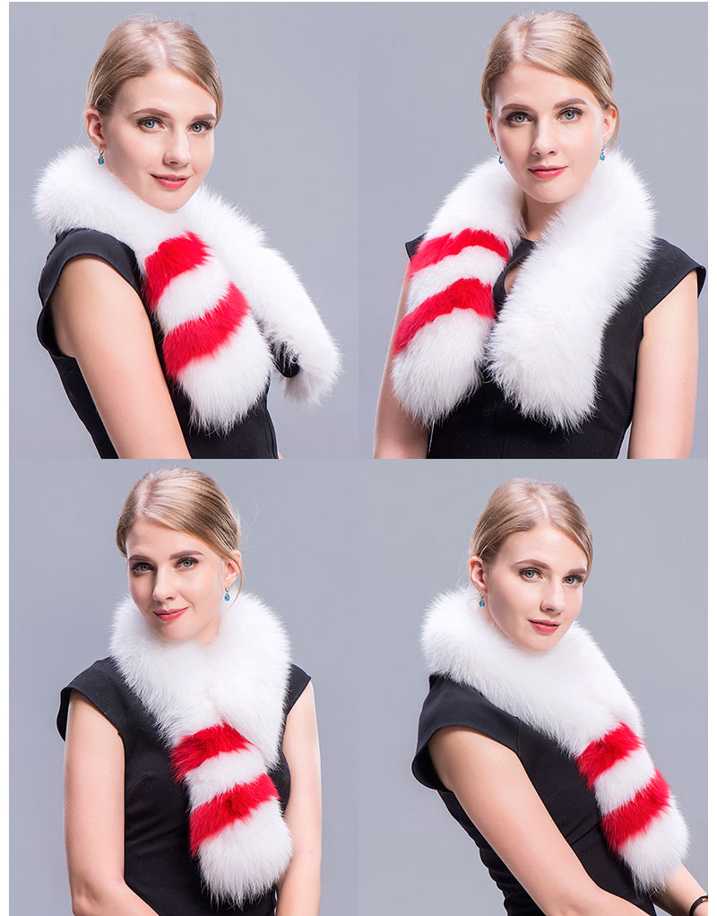 fox fur scarf white 3