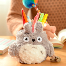 Super Kawaii MY Neighbor TOTORO Plush Cover DOLL ; Phone Stand Holder Pouch Case RACK DOLL & School Desk Pen Pencil Holder BOX(China)